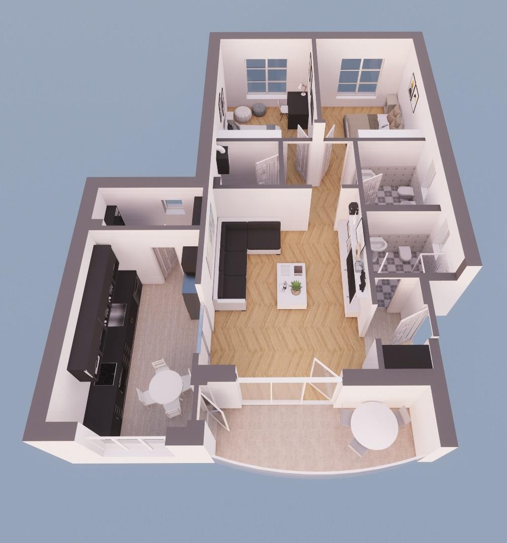 Vand apartament 3 camere zona Boul Rosu-Cuza Voda